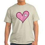 Pink Heart Cartoon Smile Smiley Light T-Shirt