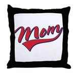Baseball Style Swoosh Mom Throw Pillow