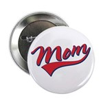 "Baseball Style Swoosh Mom 2.25"" Button (100 pack)"