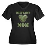 Military Mom Camouflage Camo Heart Women's Plus Si