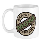 Mom Name Brand Apparel Logo Mug
