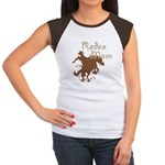 Rodeo Mom Wester Cowboy Cowgirl Women's Cap Sleeve