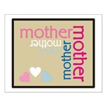Mother Plaque with Hearts Mother's Small Poster