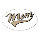 Baseball Swoosh Mom Mother's Oval Sticker