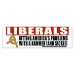 Liberals and Communism Bumper Sticker