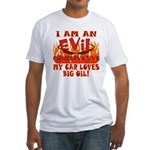 Big Oil Evil Conservative Fitted T-Shirt