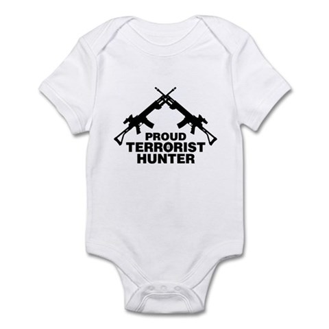 Proud Terrorist Hunter Infant Bodysuit