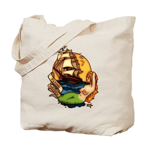 CafePress > Mugs > Mermaid n Pirate Ship Tattoo Art Mug.