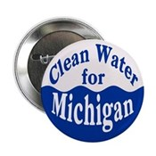 Michigan Clean Water Pinback Button