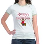 Carpe Vacationem f Jr. Ringer T-Shirt