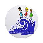 Tsunami Wave Walkers Ornament (Round)