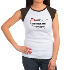 Free Speech Zone Women's Cap Sleeve T-Shirt