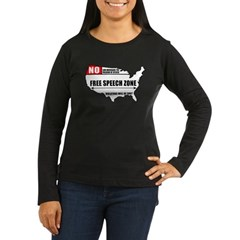 Free Speech Zone Women's Long Sleeve Dark T-Shirt
