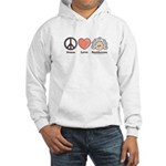Peace Love Heart Beethoven Hooded Sweatshirt