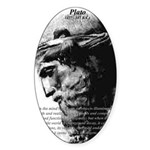 Plato Truth Reality Oval Sticker