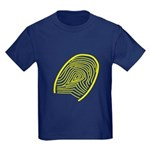 Subtle Thumb Print Kids Dark T-Shirt