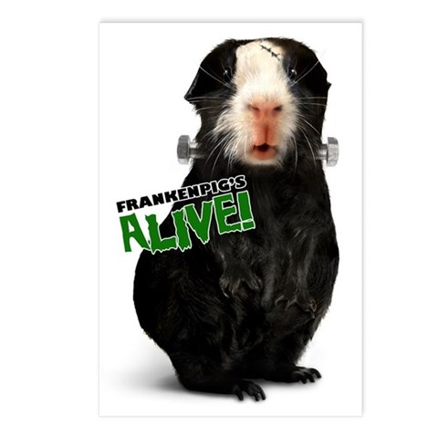 Guinea Pig Frankenstein Postcards (Package of 8)