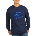Touch My Toes Long Sleeve Dark T-Shirt