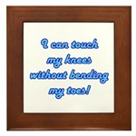 Touch My Toes Framed Tile