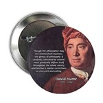 David Hume Philosophy Button