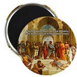 "Raphael School of Athens 2.25"" Magnet (100 pack)"