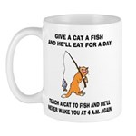 Teach A Cat To Fish Mug