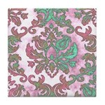 Pastel Damask Tile Coaster