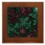 Opulent Damask Framed Tile
