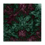 Opulent Damask Tile Coaster