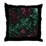 Opulent Damask Throw Pillow
