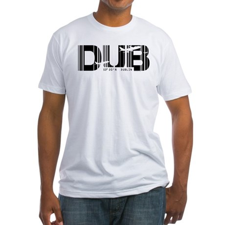 Dublin Ireland DUB Air Wear Airport Fitted T-Shirt