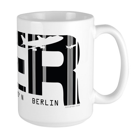 Berlin Germany BER Air Wear Airport Large Mug