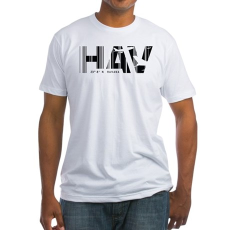 Havana Cuba HAV Air Wear Airport Fitted T-Shirt