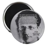 "Erwin Schrodinger One Reality 2.25"" Magnet (10 pac"
