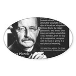 Max Planck Quantum Theory Oval Sticker