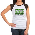 Here for the Beer Shamrock Women's Cap Sleeve T-Sh