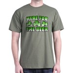 Here for the Beer Shamrock Dark T-Shirt