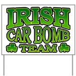 Irish Car Bomb Team Shamrock Yard Sign