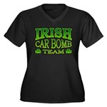 Irish Car Bomb Team Shamrock Women's Plus Size V-N