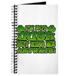 I'm Not Irish but Kiss Me Anyways Shamrock Journal