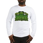 Kiss Me I'm Irish Shamrock Long Sleeve T-Shirt
