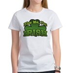 Kiss Me I'm Irish Shamrock Women's T-Shirt