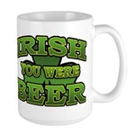 Irish You Were Beer Shamrock Large Mug