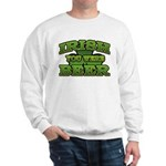 Irish You Were Beer Shamrock Sweatshirt