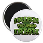 Irish You Were Irish Shamrock 2.25&quot; Magnet (100 pa