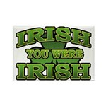 Irish You Were Irish Shamrock Rectangle Magnet