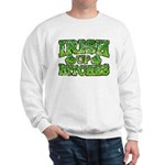Distressed Drink Up Bitches Shamrock Sweatshirt