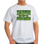 Distressed Drink Up Bitches Shamrock Light T-Shirt
