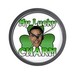 Obama My Lucky Charm Wall Clock