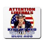 Uncle Sam Anti Liberal Mousepad